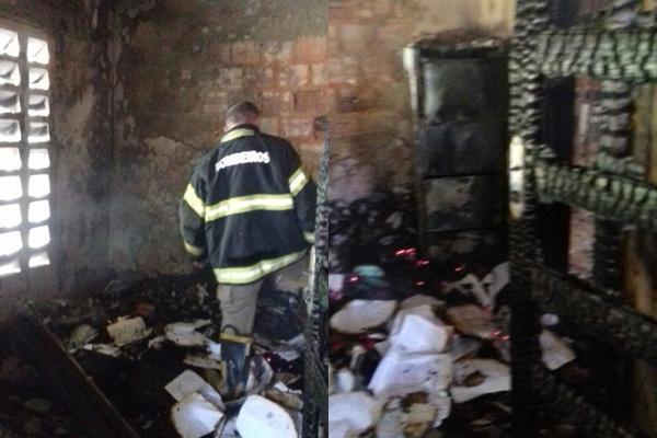 Igreja de São Sebastião é furtada e incendiada por criminosos.(Imagem:Reprodução/Whats App)