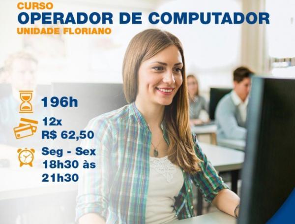 Senac de Floriano oferta vagas para o curso de Operador de Computador.(Imagem:Divulgação)