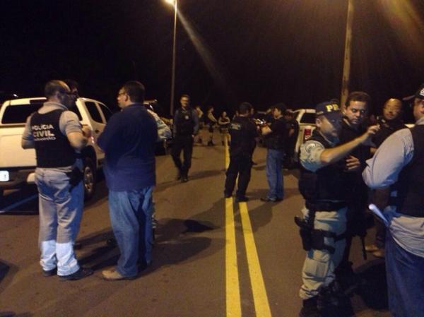 Ao todo, 140 policiais civis e rodoviários federais atuam na operação.(Imagem:Divulgação/Polícia Civil-PI)