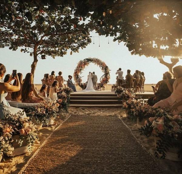 A cerimônia aconteceu durante o pôr do sol deste sábado (25).(Imagem:Divulgação)