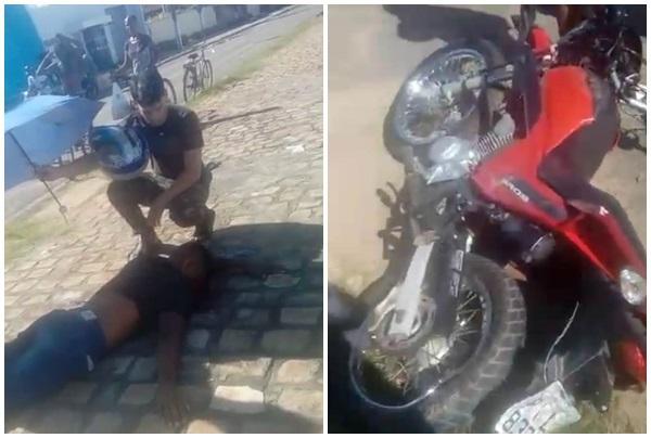 Jovem sofre grave acidente na Avenida Dirceu Arcoverde.(Imagem:Reprodução)