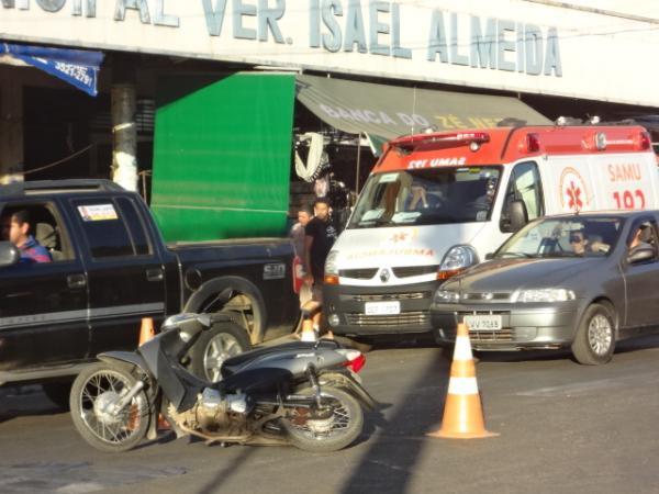 SAMU realizou simulação de acidente no centro de Floriano.(Imagem:FlorianoNews)