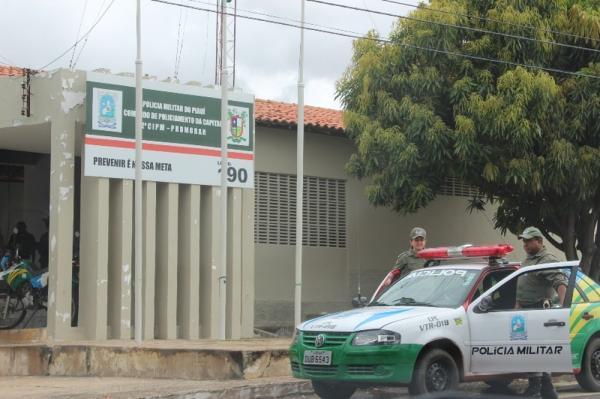 2ª Companhia Independente da Polícia Militar, bairro Promorar, Zona Sul de Teresina.(Imagem:Gil Oliveira/G1)