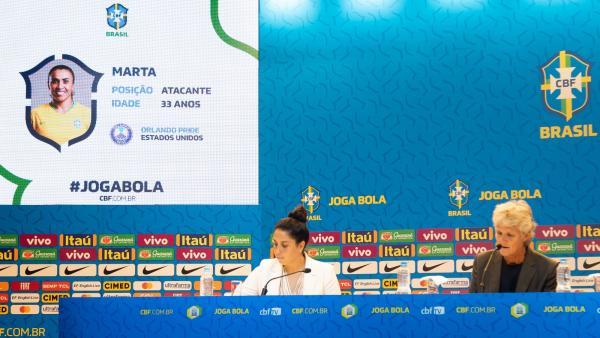 Pia convoca Marta para a seleção brasileira.(Imagem:Bruno Egger / MoWA Press)