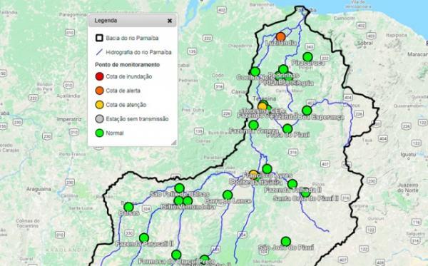 Mapa divulgado pela CPRM.(Imagem:Reprodução/CPRM)