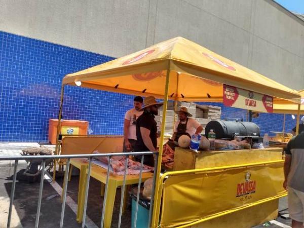Tudo pronto para o BBQ Fest Beer no Floriano Shopping.(Imagem:FlorianoNews)