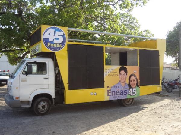 PM apreende veículos por propaganda eleitoral irregular em Floriano(Imagem:FlorianoNews)