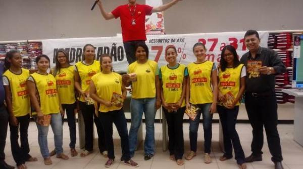 Filial de Floriano apresenta mascote do Madrugadão Paraíba(Imagem:FlorianoNews)