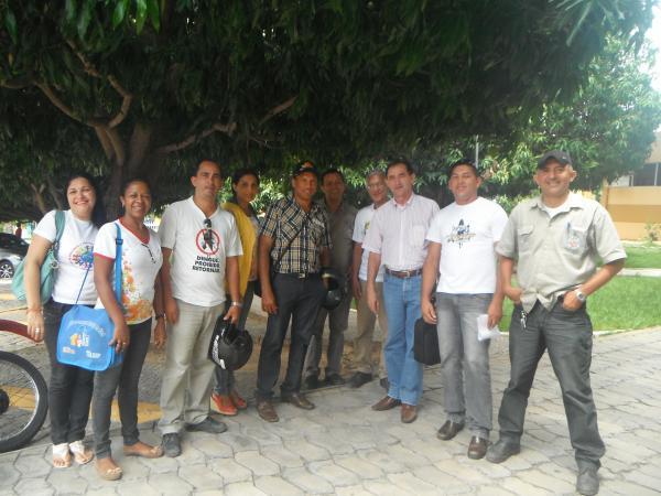 Agentes de saúde e endemias são recebidos pelo prefeito.(Imagem:FlorianoNews)