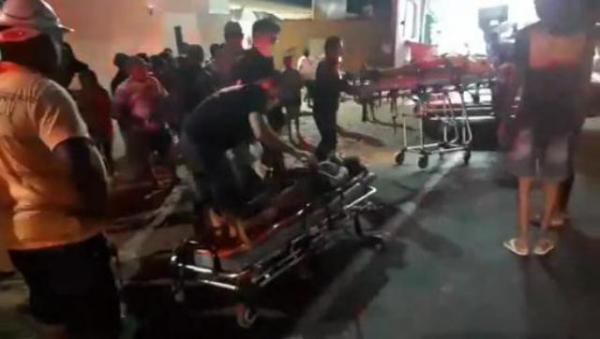 Três pessoas ficam feridas em acidente de trânsito em Floriano.(Imagem:Reprodução/Jc24horas)