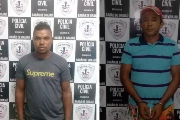 Dupla é presa por lesão corporal em Barão de Grajaú.(Imagem:Polícia Civil)