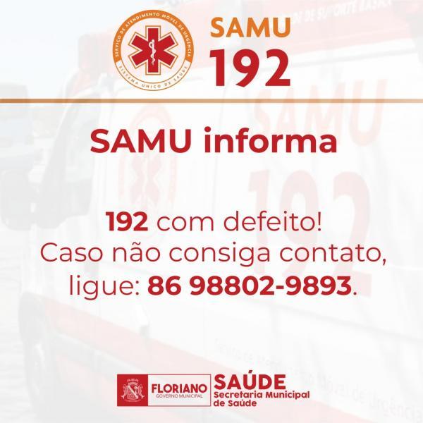 Samu - Telefone de emergência(Imagem:Divulgação)