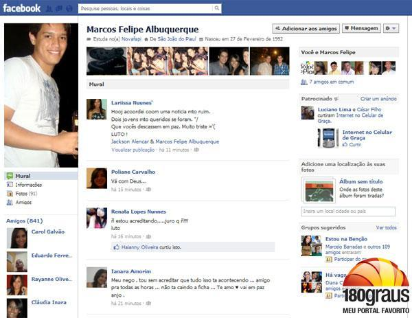 Homenagens na rede social.(Imagem:Divulgação)