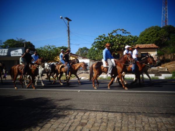 Cavalgada e missa abrem o Dia do Vaqueiro nos festejos de São Pedro de Alcântara.(Imagem:FlorianoNews)