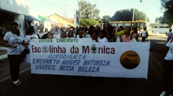 Alunos fazem caminhada pela preservação do meio ambiente em Barão de Grajaú.(Imagem:FlorianoNews)