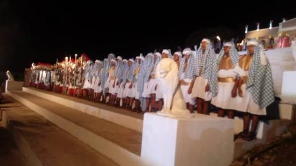 Emoção toma conta do público na 1ª noite da Paixão de Cristo em Floriano.(Imagem:FlorianoNews)