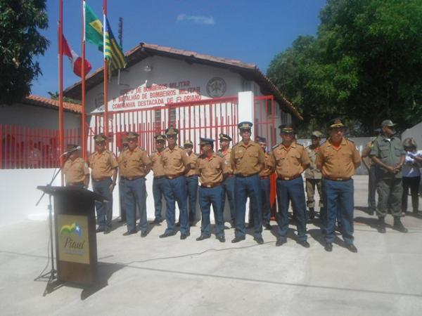 Wilson Martins inaugurou nova sede do Corpo de Bombeiros em Floriano.(Imagem:FloriaoNews)
