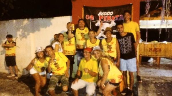 Bloco Os Piratas anima foliões no carnaval de Floriano.(Imagem:FlorianoNews)
