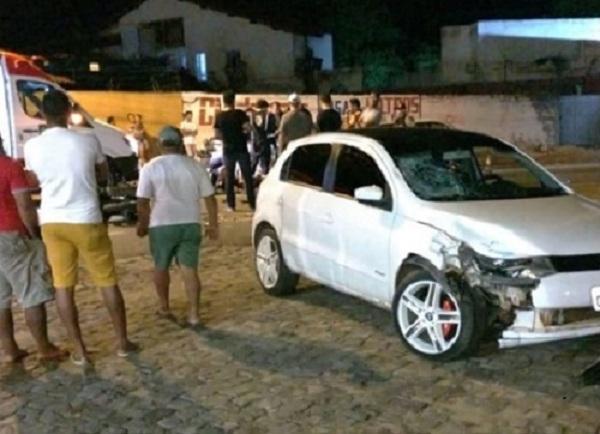 Acidente próximo à AABB de Floriano deixa um ferido(Imagem:Divulgação)