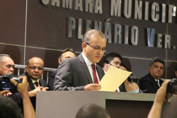 Firmino Filho (PSDB) tomou posse para o seu quarto mandato como prefeito de Teresina em 2016.(Imagem: Samantha Araújo/G1)
