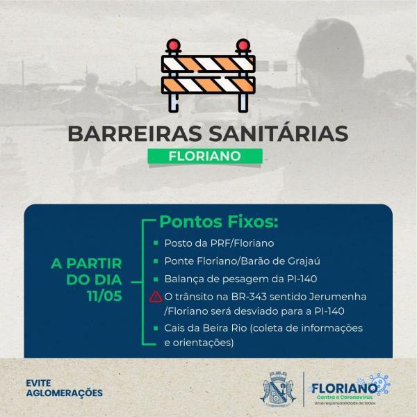 Sutran e Secretaria de Saúde de Floriano(Imagem:Divulgação)