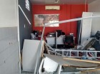 Interior do posto ficou completamente destru�do com a explos�o.