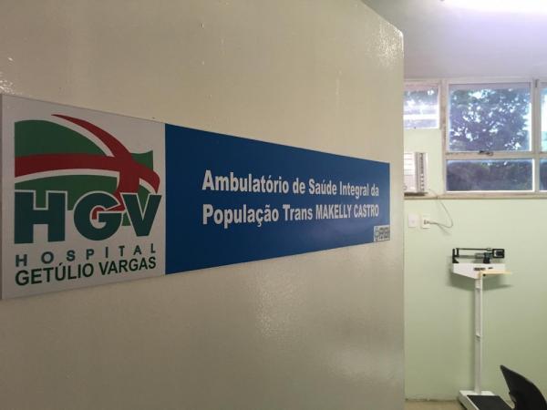 Ambulatório de Saúde Integral da População Trans Makelly Castro, em Teresina.(Imagem:Murilo Lucena/TV Clube)