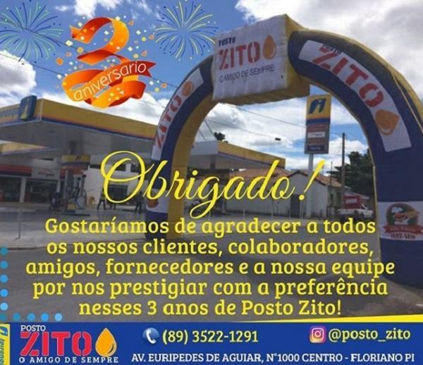 Posto Zito comemora 03 anos(Imagem:Reprodução/Instagram)