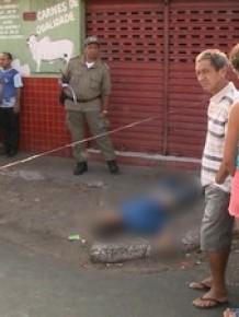 Polícia investiga auto dos disparos que matou s uspeito.(Imagem: Reprodução/Tv Clube)