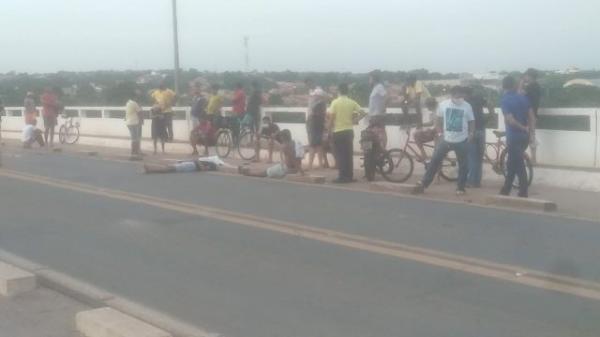 Acidente na ponte que liga Floriano a Barão de Grajaú deixa uma vítima fatal(Imagem:Populares)