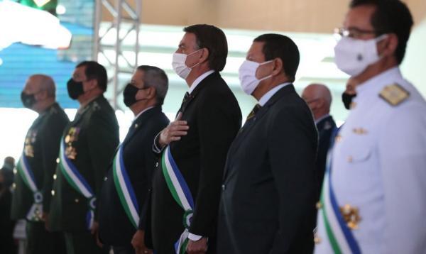 Presidente participava de cerimônia do Ministério da Defesa.(Imagem:Marcos Corrêa/PR)