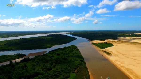 Delta do Parnaíba, o maior das Américas.(Imagem:Reprodução/TV Clube)