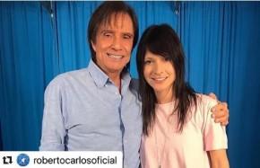 Roberto Carlos e Tamara Angel(Imagem:Reprodução / Instagram)