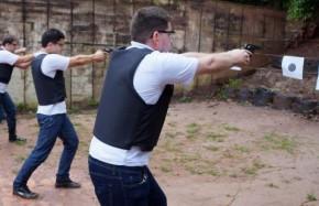 Policiais participam de torneio de tiro prático na Acadepol.(Imagem:Divulgação)