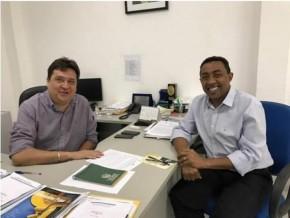Joel Rodrigues e Secretário de Desenvolvimento Econômico do Estado, José Neri, o Nerinho.(Imagem:SECOM)