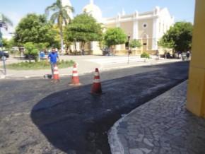 Concluída mais uma etapa da obra de asfaltamento no centro de Floriano(Imagem:FlorianoNews)