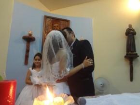 Enlace matrimonial de Leonardo e Poliana(Imagem:FlorianoNews)