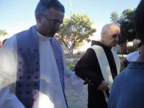 Frei Miguel e Frei Vicente da Paróquia de N. Sra. das Graças(Imagem:FlorianoNews)