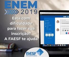 FAESF divulga vídeo explicando passo a passo para realização de inscrição no Enem.(Imagem:Divulgação)