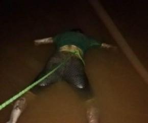 Corpo de vítima de afogamento é encontrado por moradores no rio Parnaíba(Imagem:Divulgação)