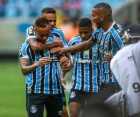 Grêmio goleia o Avenida, antecipa a classificação e fatura a Recopa Gaúcha.(Imagem:Lucas Uebel/Grêmio)