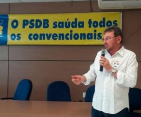 Na convenção do PSDB, Wilson Martins diz que candidatura depende do partido.(Imagem:Lídia Brito)