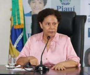 Governadora em exercício, Regina Sousa (PT)(Imagem:Yala Sena)