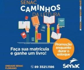 Campanha do Senac incentiva a leitura em Floriano.(Imagem:Divulgação)