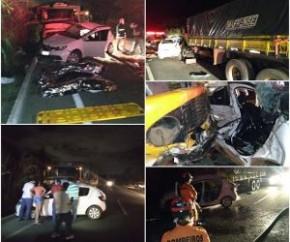 Três morrem em colisão entre carro e caminhão na BR-316.(Imagem:Divulgação)