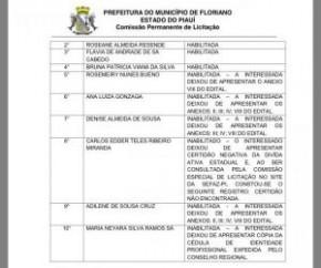 Prefeitura de Floriano divulga lista de habilitados em chamamento da secretaria de Saúde.(Imagem:SECOM)