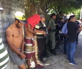 Dupla é presa por roubo de equipamentos em Teresina.(Imagem:SSPPI)