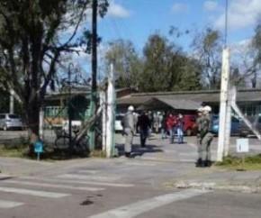Ataque: adolescente invade escola e fere alunos e professora.(Imagem:Gerson Galvão)
