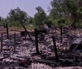 Homem tem barraco queimado e perde tudo em incêndio criminoso em Floriano.(Imagem:Divulgação)