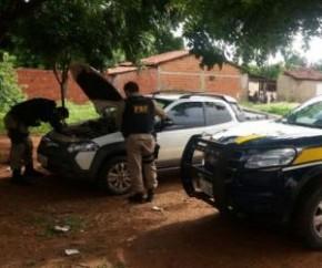 Veículo recuperado pela PRF(Imagem:Divulgação/PRF)